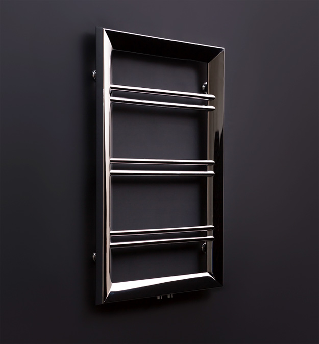 Chrome Amp Bronze Finished Towel Warmer