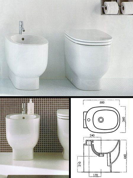Short Projection Bidet For Small Compact Designer Bathrooms