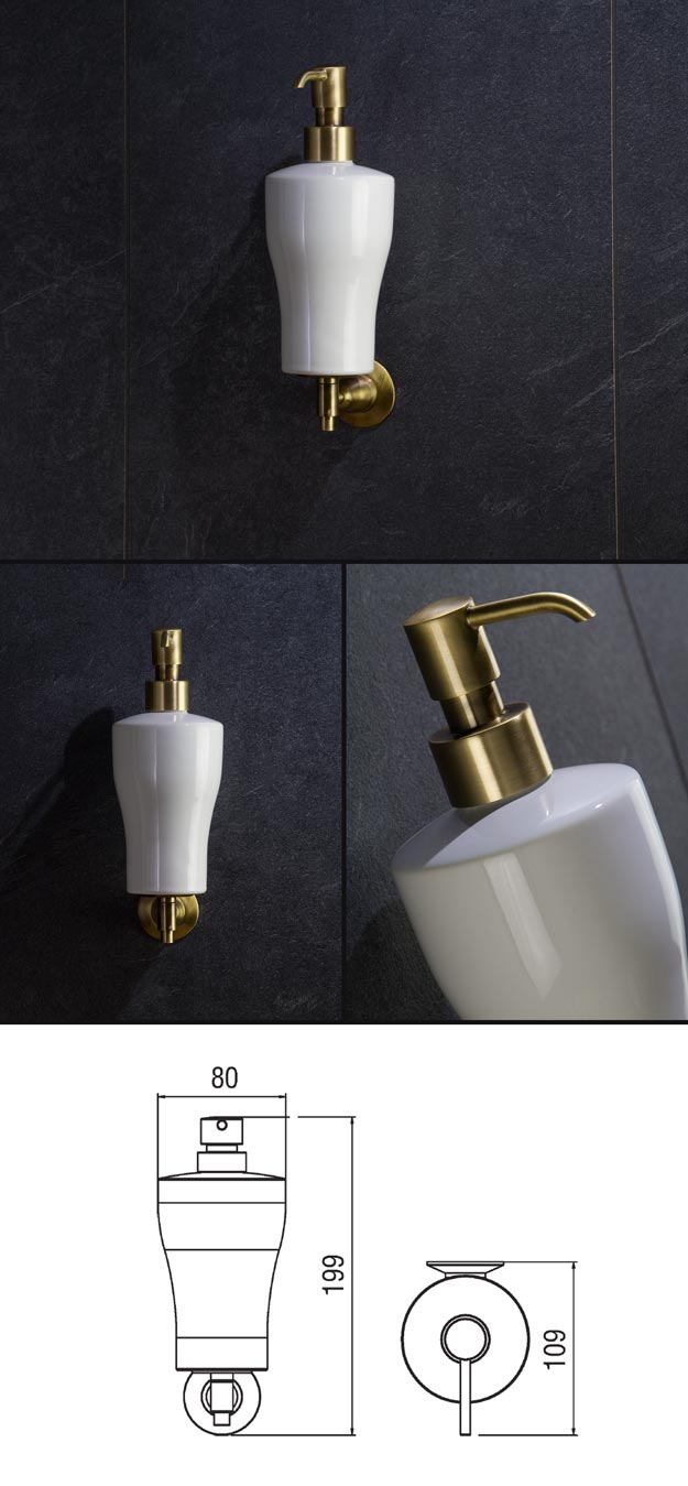 Antique Brass Soap Dispenser Brass Bathroom Accessories