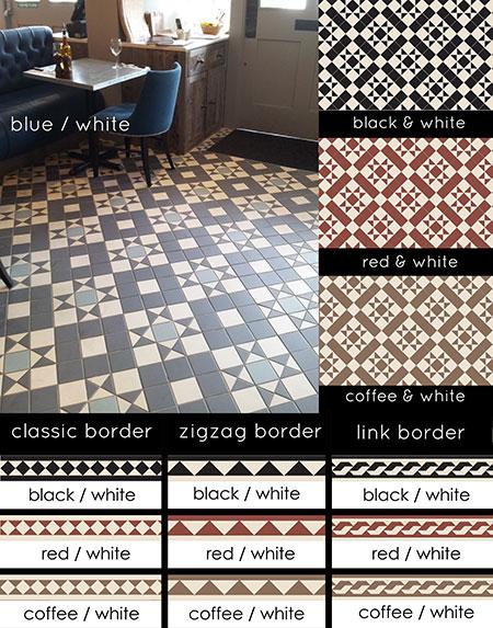 Edwardian Tiles In Geometric Victorian Patterns