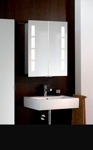 Unique  White Gloss Mirror With Lights Amp Cabinet  750mm Width  EBay