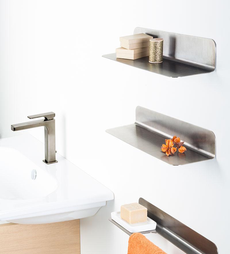 Bathroom Shelf | Black Chrome Bathroom Accessories