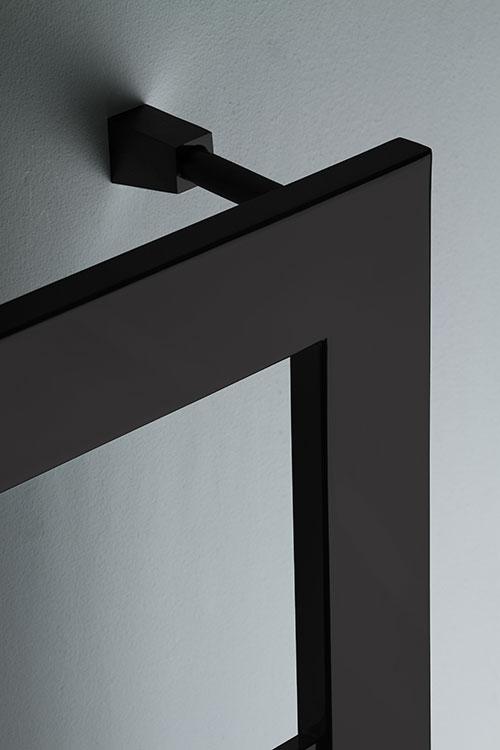 Large Bar Black Chrome Towel Rail Black Chrome Radiators