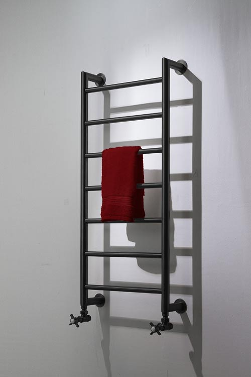 Mitred Black Chrome Towel Warmer Black Chrome Radiators