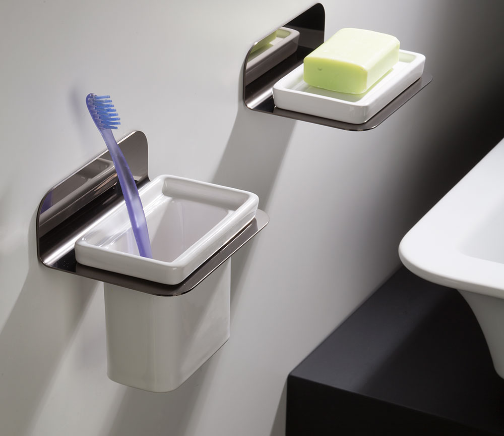 Tooth Brush Holder Black Chrome Bathroom Accessories