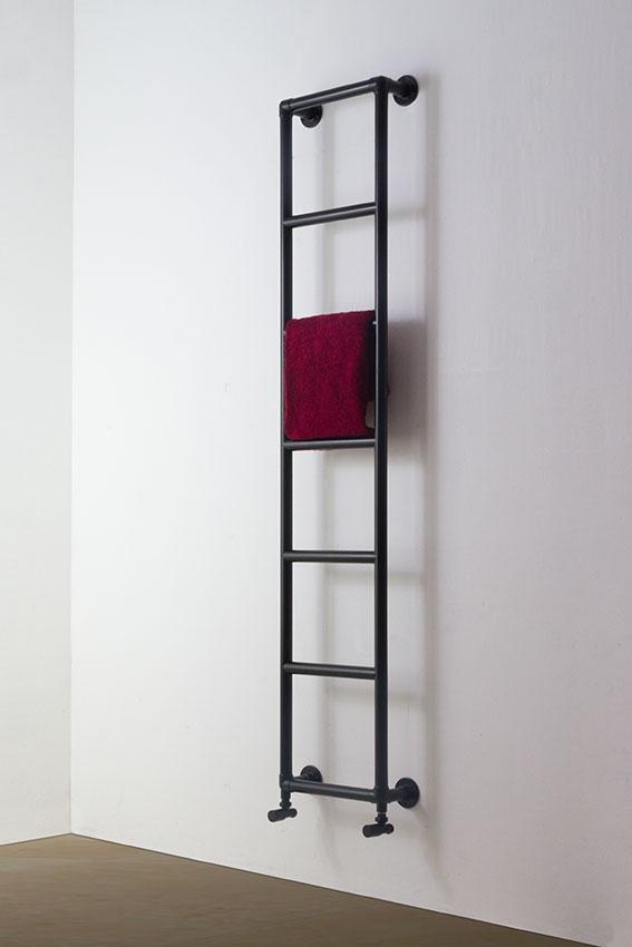 Black Classic Wall Mounted Heated Towel Rail Black