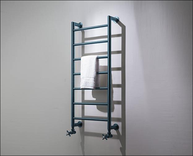 Blue Chrome Mitred Towel Warmer