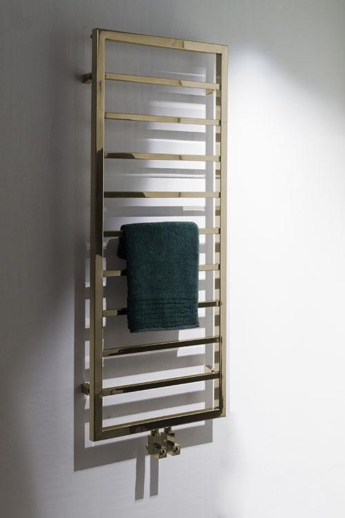 Plaza Brass Heated Towel Rail Brass Radiators