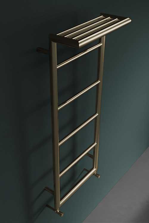 Brass Shelf Heated Towel Rail Brass Radiators