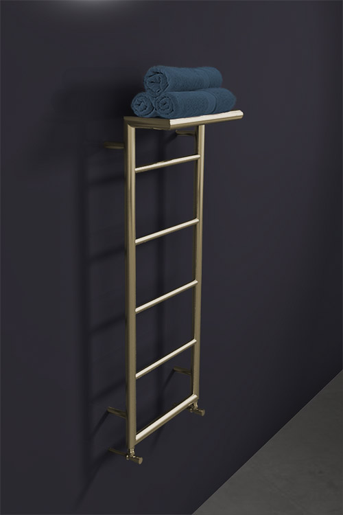 Brass Shelf Heated Towel Rail Brass Radiators