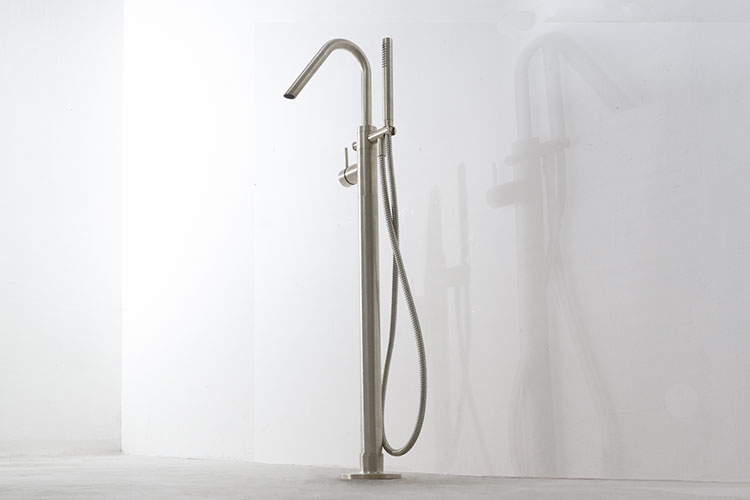 Brushed Nickel Freestanding Bath Tap Nickel Bathroom Taps