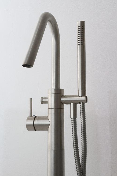 Bath Taps: Brushed Nickel Freestanding Bath Tap