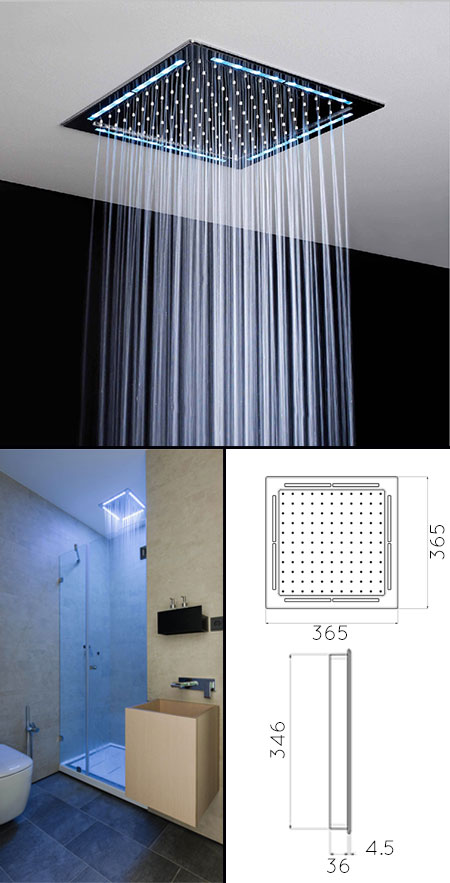 Square Ceiling Shower Head Amp Shower Heads With Lights