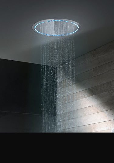 Round Ceiling Shower Head With Lights ...