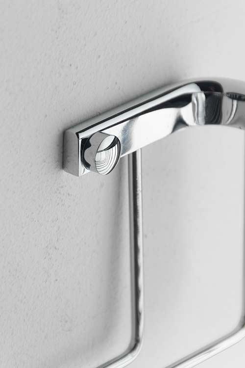 Spa Chrome Rectangular Shower Basket Chrome Bathroom