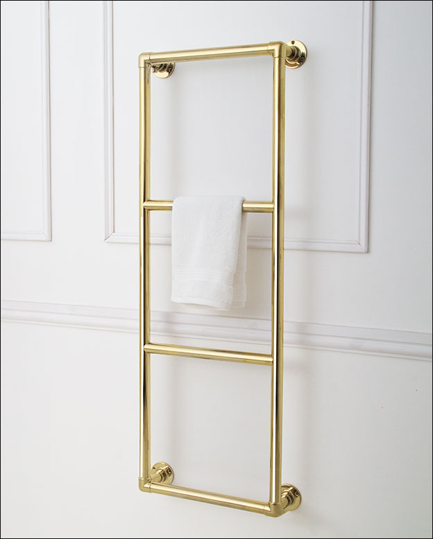 Wet Room Wall Panels >> Traditional Gold Towel Rails | Gold Towel Warmers | UK ...