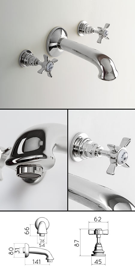 Classic Traditional Wall Mounted Bath Taps | Livinghouse