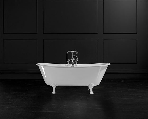 Newbury Traditional Back To Wall Roll Top Bath Suite At: Cast Iron Double Ended Baths