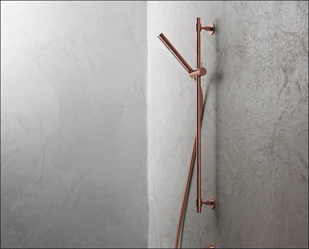 Slide Rail Shower Head Luxury Shower Fittings Copper