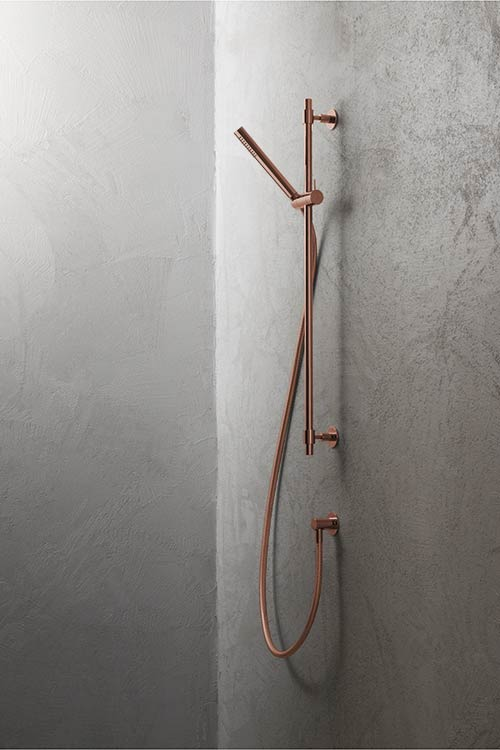 Slide Rail Shower Head Luxury Shower Fittings Copper