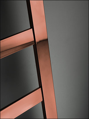 Large Bar Copper Towel Radiator Copper Heated Towel Rails