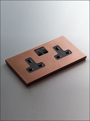 Brushed Copper Plug Sockets Copper Electrical Fittings