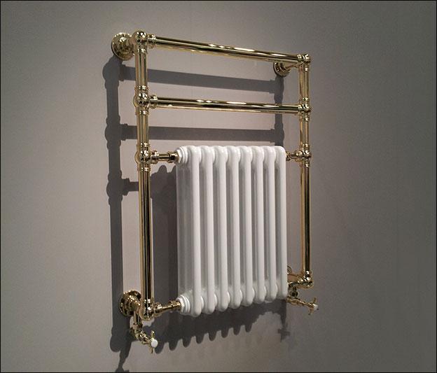 British Made Gold Towel Warmers & Gold Plated Towel Radiators