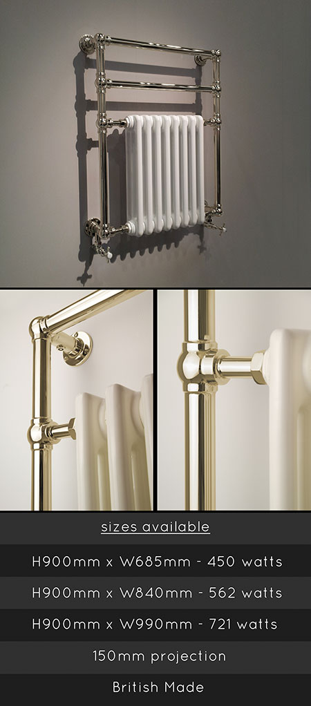 Uk Towel Warmers Towel Rails Towel Radiators Nickel