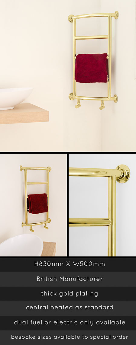 Gold Towel Rails Gold Plated Towel Warmer Corner Towel