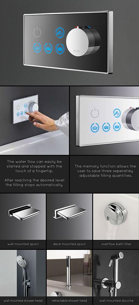 Sensor Taps - Automatic Sensor Bath Tap with Shower Control