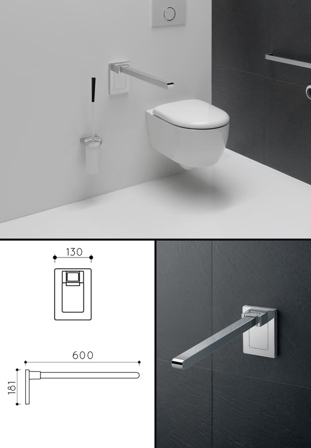 Toilet Grab Bars & Folding Support Rails - Disabled Bathroom