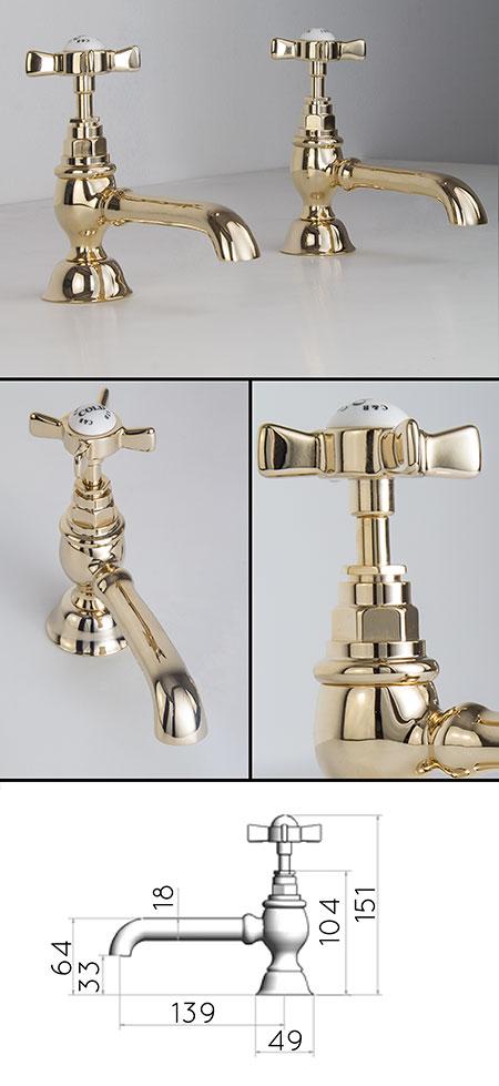 Bathroom taps gold