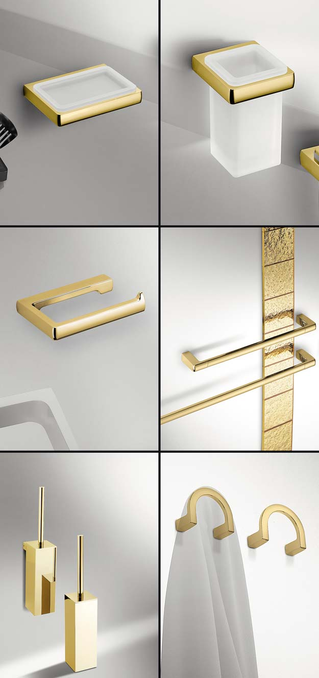 Merveilleux Gold Bathroom Accessories ?