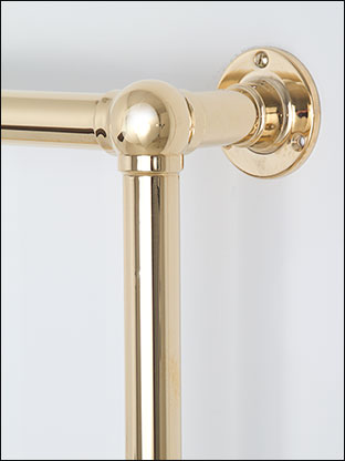 Traditional Towel Rails In Gold Gold Plated Towel