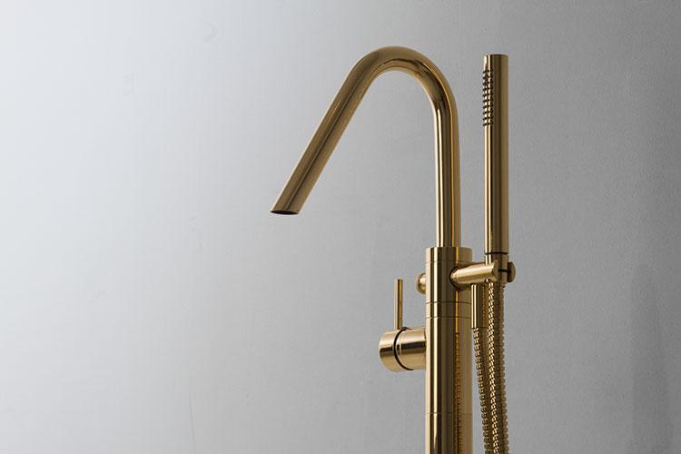 Gold Taps Freestanding Bath Tap With Shower Kara