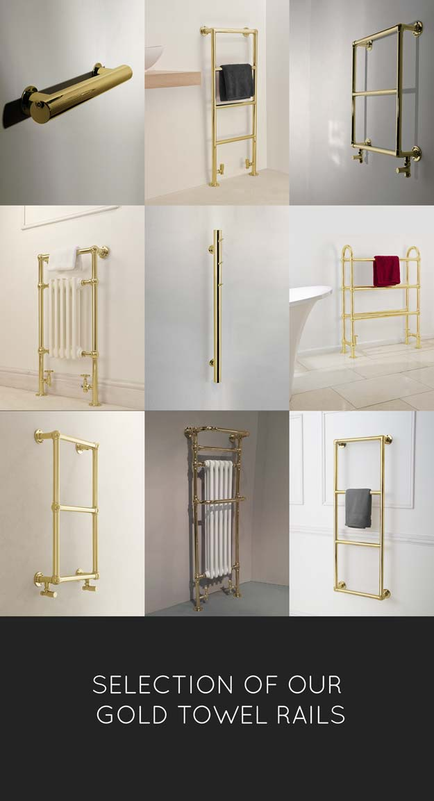 Gold Heated Towel Rails Amp Towel Radiators Gold Taps