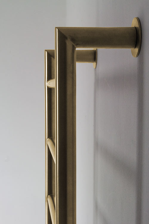 Mitred Towel Rail In Brushed Or Polished Gold Livinghouse