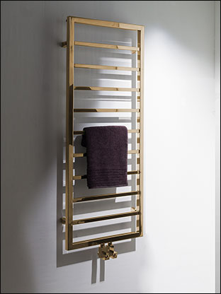 Plaza Gold Heated Towel Rail Gold Radiators
