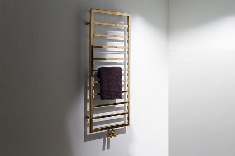 Plaza Gold Heated Towel Rail Gold Radiators