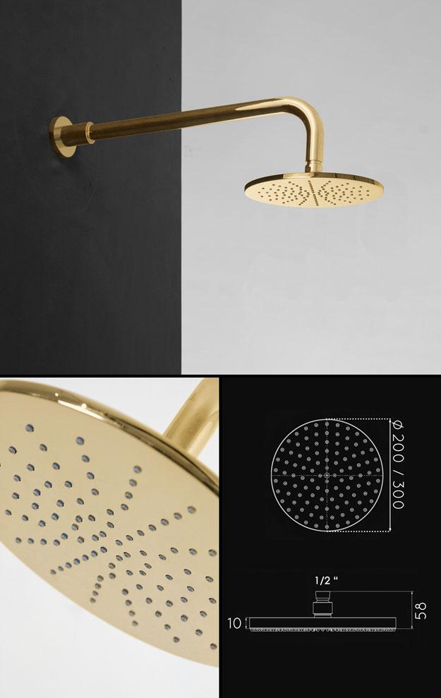 Gold Taps - Gold Shower Head - Kara