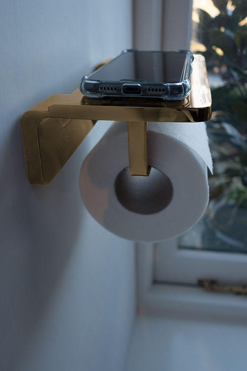 Spa Gold Toilet Roll Holder Amp Phone Shelf Gold Accessories
