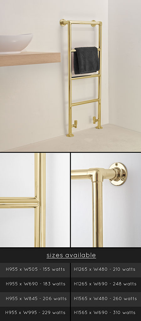 Traditional Gold Towel Radiators Amp Gold Plated Towel Rails