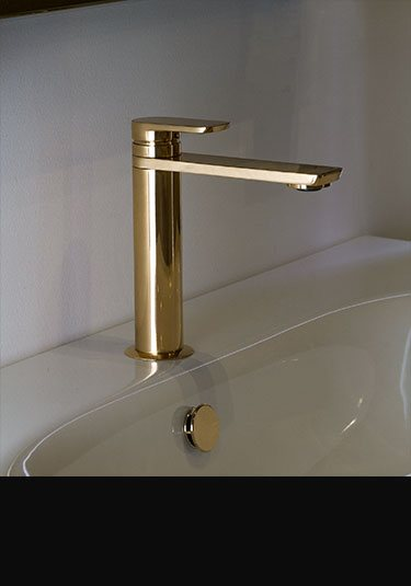 Gold plated bathroom taps