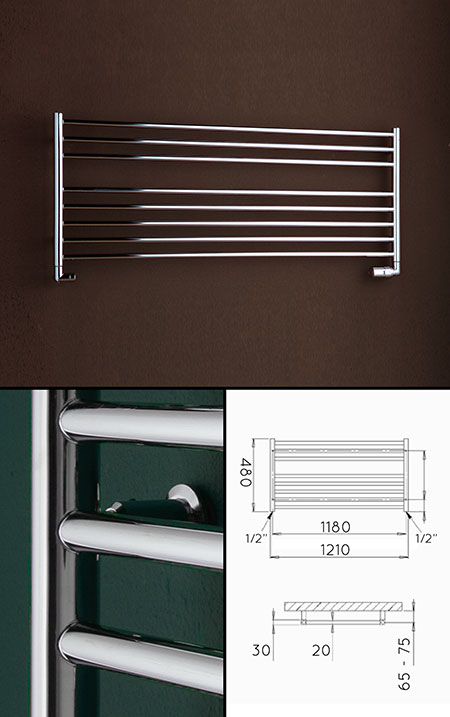 Low Heated Towel Rails Under Window Towel Radiators