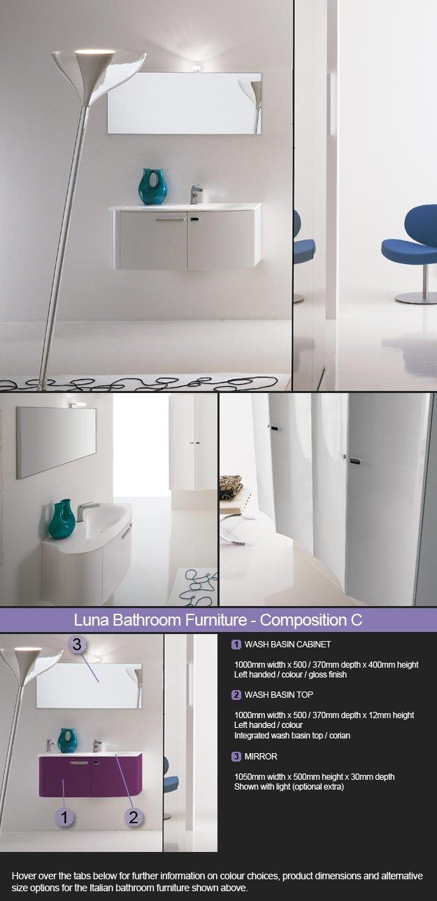 High Gloss, Matt & Wooden Bathroom Cabinets | Luna
