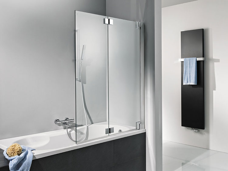 Delighted Folding Glass Bath Shower Screen Gallery
