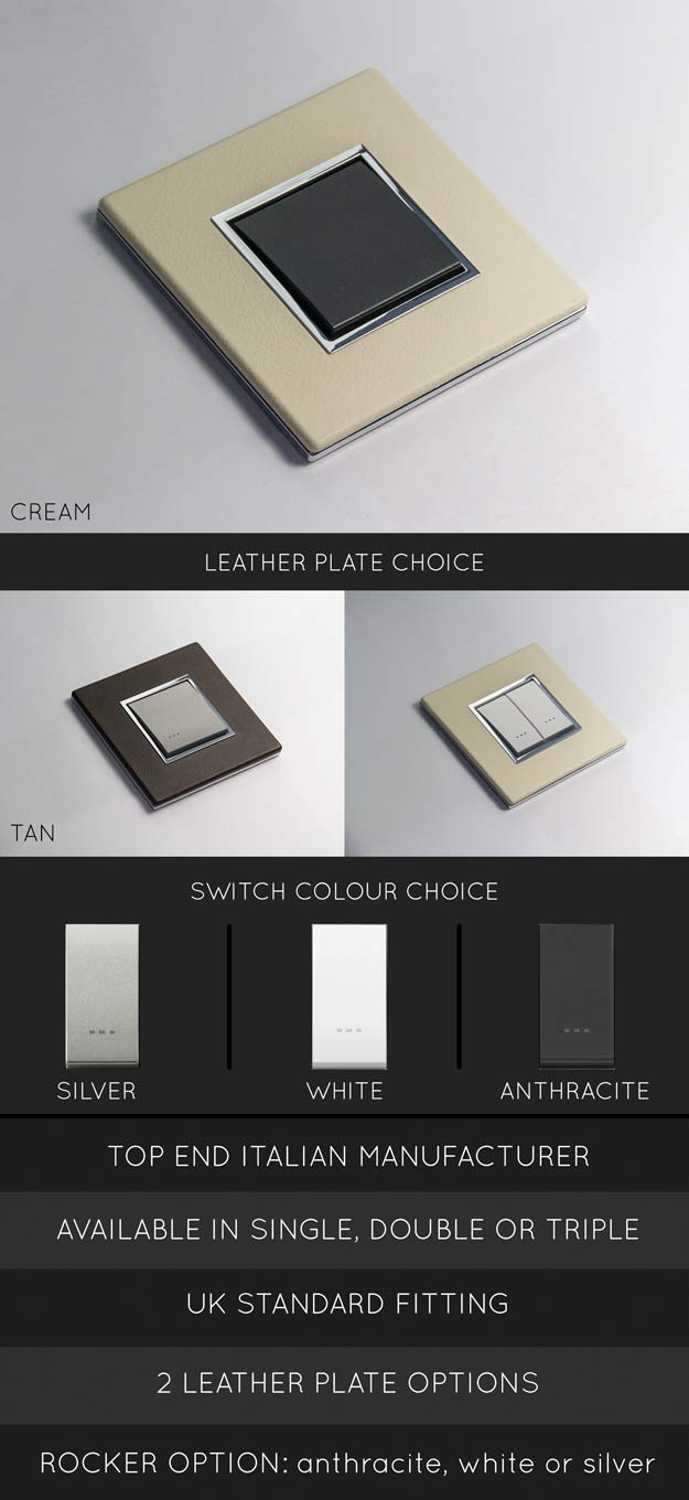Leather Light Switches | Leather Light Switch