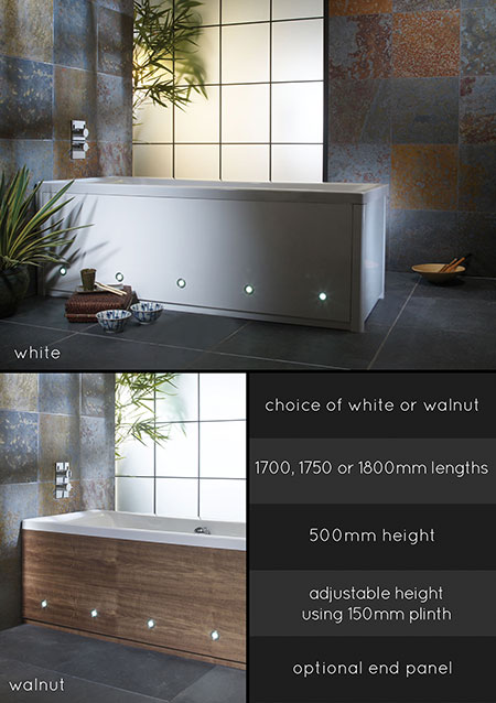 Suppliers of Bath Side Panels in Wood & Painted Finishes