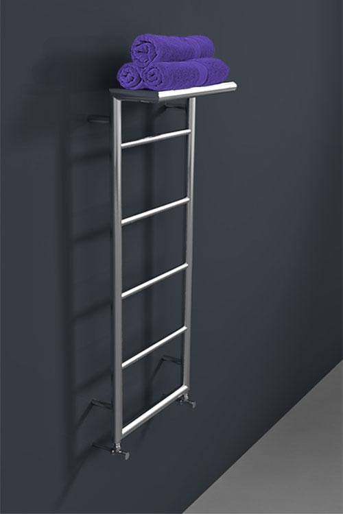 Wall Mounted Towel Radiator With Top Towel Rack Shelf