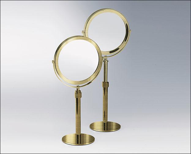Magnifying Make Up Amp Shaving Mirror Moca Brass Bathroom